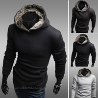 Cotton Cardigan Hoodies,Sweatshirts Christmas 2013 New Korean Autumn-summer Cheap Designer Clothes For Mens Turtleneck Sweatshirt Fleece Blank Cool Pullover