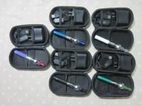 Electronic Cigarette Set Series Blue 2014 eGo starter kits glass tank Globe Wax Atomizer 650mah 900mah 1100mah battery e cigarettes kit Zipper ego case DHL Free
