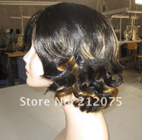 Wholesale Welcome to buy High quality Fashionable elegant short hair lady wig Blended Hair Fashion women wig