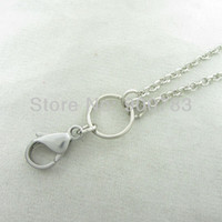 Wholesale Stainless steel clasp wire mm width rolo chain for dangle charm floating glass locket floating chain locket