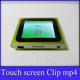 Wholesale 15pcs th touch screen mp4 player support TF card inch clip mp3 mp4 music player fm radio with no build in memory