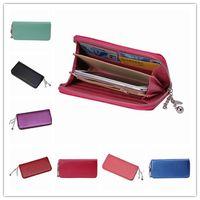 Wholesale Portable Leather Wallets Zipper Clutches Handbag UM bags Long Purse With Bank Card Slots GGH
