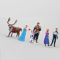 Wholesale 2014 New Arrival Frozen Figure Play Set Retail Frozen Piece PVC action Figure Play Set