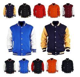 Wholesale East Knitting AS Men s Premium Varsity College Letterman Baseball Jacket Uniform Jersey Hoodie Hoody US Black M L XL XXL