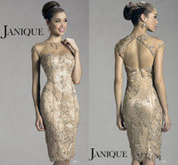 Reference Images Crew Neck lace 2014 New Arrival Sexy Illusion Crew Neck Cap Sleeve Lace Beaded Sheath Mother Of The Bride Dresses Janique Evening Dresses