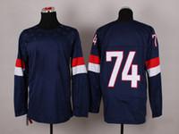 Ice Hockey Men Full 2014 USA Olympic Jerseys #74 Dshie Jerseys Brand Hockey Jerseys China Blue Well Embroidery Logos Hockey Apparel Cheap Sports Jerseys