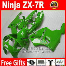 Free customize fairing kit for Kawasaki Ninja ZX 7R 1996 - 2003 ZX-7R ZX7R 96-02 03 all green bodywork fairings set Yr36 +7 gifts