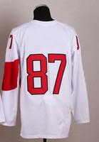 Ice Hockey Men Full Free Shipping New Style 2014 Olympic Team #87 Sidney Crosby White Jerseys Ice Hockey Jersey