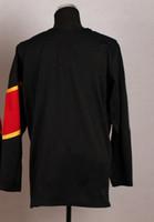 Ice Hockey Men Full Top Quality New Style 2014 Olympic Team Blank Black Jerseys Embroidery Logos Ice Hockey Jersey