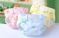 Wholesale Adjustable Reusable Baby diapers Cartoon cotton cloth diapers Baby breathable waterproof leak proof Newborn diapers BBK1
