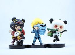HOT! League of Legends Cartoon Cute Action Figures Children Boys Girls Hit Online Game Cartoon Figure Kids Toys Gift 10pcs lot D2252