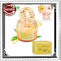 Wholesale 2014 New PILATEN Gold Osmanthus Fresh Petals Eye Mask Moisturizing Anti wrinkles Eliminate Eye Bags Bottle
