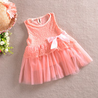 tunic tops - Princess Girls Sleeveless Rose Top Lace Mesh Dress with Bow Baby Girl Floral Party Evening Tunic Lace Dress Color