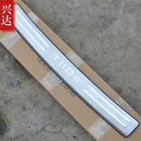 Wholesale Bumper guard Ben grams TIIDA decorative lights of the old Nissan Tiida special stainless steel pedal after post