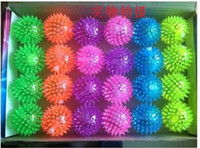 Unisex bouncing ball - LED Flashing Ball Light ball bouncing ball flashing spiky ball music ball elastic ball light up toy