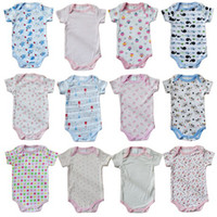 Wholesale Great Quality Coupon Newborn Romper M Baby Romper Soft Handfeel Stretch Cotton Bodysuit Twelve Prints Mixture Color Great Workmanship