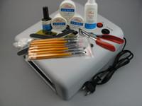 nail starter kit - W UV LIGHT NAIL ART CURING LAMP UV GEL STARTER KIT