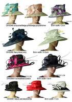 Wholesale NEW WIDE BRIM wedding church dress sinamay hat in mix style and colors BY EMS