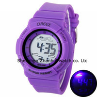 Wholesale Oreex Girl Jelly Color Electronic Watches Sports Watch Electronic Digital Watches LED Watch with Numbers Silicon Watch for Children