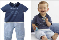 Boy baby clothes labels - Fashion New Summer Baby Boy Clothing Set Label Short Sleeve T Shirt Pants Toddler Baby s Casual Suit