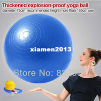 Wholesale 75cm Exercise Fitness Aerobic Yoga Ball for Health Gym Yoga Pilates with Pedal inflating pump