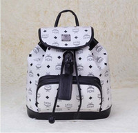 Wholesale NEW Classic brand designer Genuine leather MCM backpack leather Designer Handbag fashion casual printing backpack children