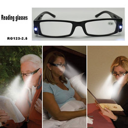 Wholesale 2014 promotion gift glasses Strength Black LED Reading Glasses RG