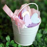 Favor Tins and Pails Pink Metal white red Mini White Pail Mint Tin Wedding Favors DIY Beach wedding gift free shipping LYY392