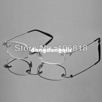 Rimless Fashion Glasses Clear Fashion Lightweight Unisex