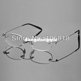 Wholesale Fashion Lightweight Unisex Book Map Menu Rimless Frameless Magnifying Crystal Lenses Reading Glasses Clear Eyeglasses Case