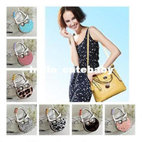 Wholesale Fashion Owl Design Portable Lady Women Folding Purse Handbag Holder Bag Hook Hanger Bag Accessorie