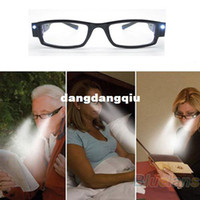 Wholesale LED Eyewear Reading Glasses Eyeglass Spectacle Diopter Magnifier Light Up for Men Women