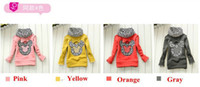 Wholesale Hot Junoesque Toddler Girls Hoodie Coat Kids Minnie Mouse Bow T Shirt Costume