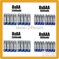 Wholesale 8 AA mAh AAA mAh NiMH Ni MH v Rechargeable Recharge Battery Batteries pack HOT