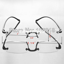 Wholesale Unisex TR90 Bendable Frameless Rimless Presbyopic Reading Glasses Reader Eyewear Men With Delicate Carrying Case Gift
