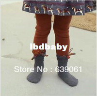 Casual Pants Unisex Spring / Autumn Children's Clothing Cat Doll Child Skinny Pants Female Child Baby Legging Plus Velvet Boot Cut Jeans