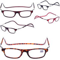 Wholesale Folded Hanging MAGNETIC POWER Round Reading Glasses hot selas cheap price