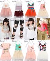 TuTu Summer Pleated Stock New Brand Cotton Kids clothing Skirt,Girl's Dress,Tank Top,Vest,Sundress,T-skirt,leggings, Pants,Summer Children wear baby clothes