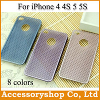 Wholesale For iPhone S S Sunflower Stainless Steel Metal Case New Design Colorful Hollow Pattern Heronsbill Cover Slim Mesh Back Shell Shipping