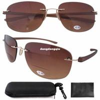 other aviator cases - SR14001 New Lightweight Aviator Readers Rimless Bifocal Sunglasses W case