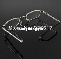 Wholesale Portable Fold Folding Foldable Silver Frame Men Women Reading Glasses Presbyopic Book Reader With Elastic Belt Pocket Case