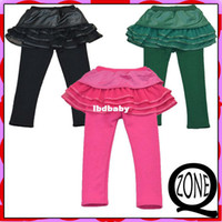 Casual Pants Unisex Spring / Autumn EYN088 Winter Warm Leggings For Girls Dresses Pants Lace Leather Pants Girl's Trousers Thickening Children Clothing