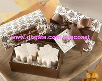 Wholesale Maple Leaf Soap boxes Fall in Love Scented soap Baby Shower favors wedding gifts
