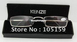 Wholesale 2014 Stainless Half rim Reading Glasses with Hand Made Cases Hot Sale