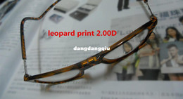Wholesale Leopard Print D Reading Glasses Brand Magnet Folding Reading Glasses Adjustable Front Connect Readers Glasses Women