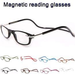 Wholesale oculos fashion folding plastic magnet reading glasses man woman
