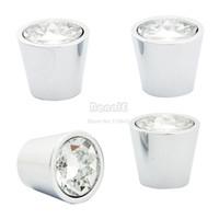 Ceramic Furniture Handle & Knob TK0762# 6sets Lot (4 Pcs set) Wholesale 22mm Cup Type Small kitchen Knob Crystal Glass Drawer Handle Cabinet Door Pull Handle TK0762