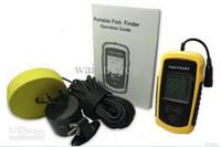 Wholesale free E ULINK DHL Portable Sonar LCD Fish finder depth Finder Alarm100M AP fishing iure ice fishing finder