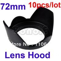Wholesale 10Pcs mm Petal Flower Crown shape Screw Mount Camera LENS HOOD for Canon Nikon Sony Dropshipping