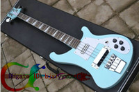 Wholesale Custom Electric Bass blue Strings Electric Bass Guitar New style